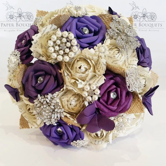 Paper Flower Bouquet Origami Wedding Alternative Bridal