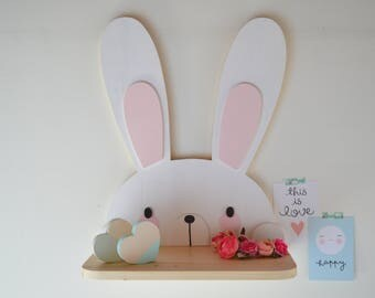 Shelf for gifts and children's bedrooms rabbit