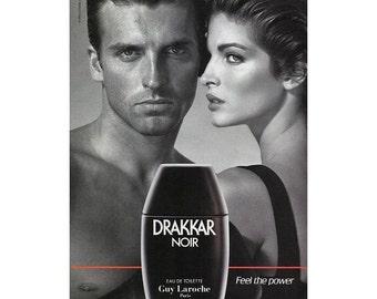 Vintage 1993 magazine ad for Drakkar Noir - 112
