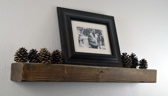 Items Similar To 36 Quot Rustic Wood Floating Shelf Rustic
