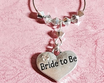 Bride to Be Wine Glass Charm - Engagement - Hen Party - Valentines Day