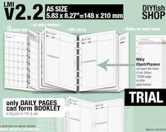 Trial [A5 v2.2 w DS1 do1p] November to December 2017 - Filofax Inserts Refills Printable Binder Planner Midori.