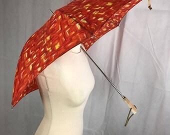 1960's Fold Red Umbrella
