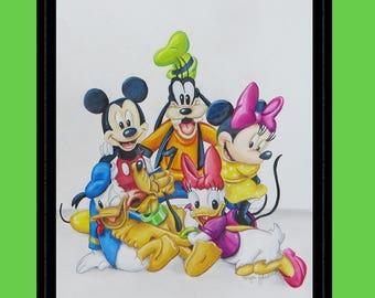 Goofy Drawing Colored Disney pencil d...
