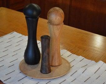 """Handturned salt shaker - Claro Walnut - 5 1/2"""""""