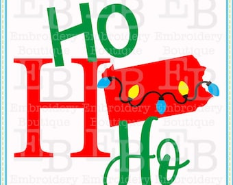 Ho Ho Ho Pennsylvania SVG - This design is to be used on an electronic cutting machine. Instant Download