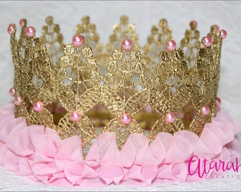 Silver crown Cake topper / Gold Crown Cake Topper / Cake Topper  / Gold Pink Crown / MADE IN USA.