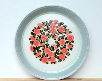 Vintage Kilncraft dinner plates, Staffordshire potteries ironstone, flower design