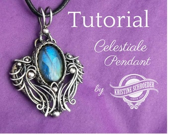 Wire Jewelry Tutorial, Wire Wrap Tutorial, Wire Jewellery Tutorial, Celestiale Pendant Tutorial, No Soldering, Kristine Schroeder