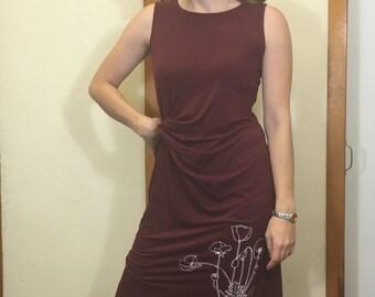 FINAL SALE! Poppy Sleeveless Dress in Maroon