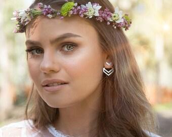 Plated Silver Earrings, Interchangeable Earrings, Ear Jackets, Chevron Jewelry, Wedding Earrings, Design Earrings, Girlfriend Gift Earrings