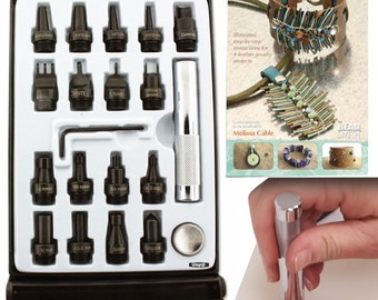 Leather Tool Kit 19 Piece, Create Recklessly, Punches, Grommet, Snap & Booklet! WA 540-001