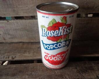 Vintage*Popcorn*Tin*Can*UNOPENED*Rose Kist*Thomasville, Georgia