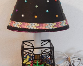 Table side Lamp w/Lots of Bling Includes Jacks game  ON SALE!!