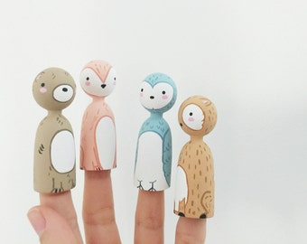 Whimsical forest friends set of 4