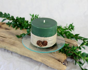 Candles, blunt plums, green