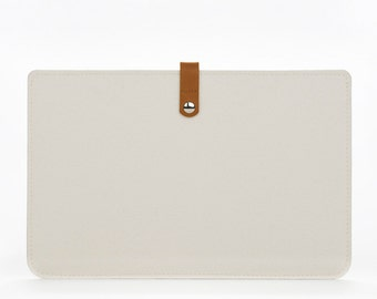 Felt MacBook Air 11 Sleeve - MacBook Case - MacBook Air 11 Cover - MacBook 11 Air White Felt - MacBook Laptop Case - Apple 11 Inches Case