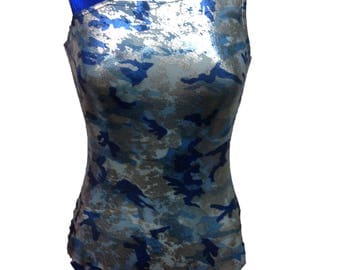 Camouflage Gymnastics leotard for girls