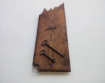wall clock, Antiques, Antique Clock, Key, Ancient key, keys, retro, antique wood, retro clock, Large clock, Natural wood, wooden clock,