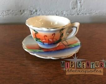 Miniature Souvenir of Florida Cup and Saucer