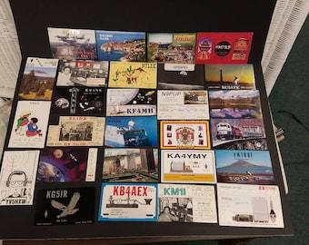 Free Shipping!! Ham Radio QSL Card Lot of 27