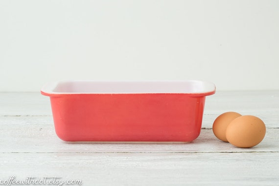 Vintage Pink Pyrex Loaf Pan - Glass Bread Pan - Flamingo Pink Pyrex Loaf Dish