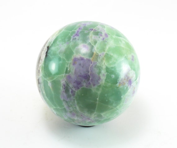 Purple Fluorite and Serpentine Sphere, M-1429
