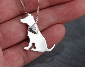 Jack Russell Terrier JRT Handcrafted sterling silver necklace