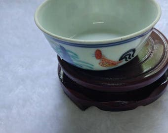 old chinese  Ming Chenghua Doucai porcelain rooster cup b29