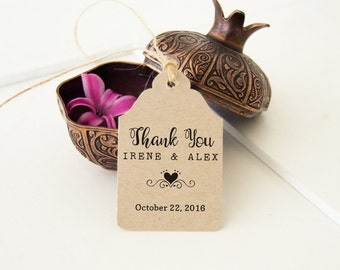 Wedding Favor Thank You Tags, Rustic Thank You Tags, Custom Wedding Favor Tags, Small Favor Tags, 24 pcs