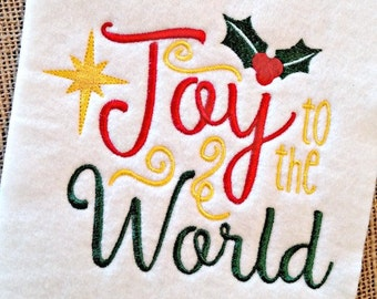 Christmas Embroidery - Christmas Embroidery Saying - Holiday Embroidery - Religious Embroidery - Embroidery Design - Joy to the World