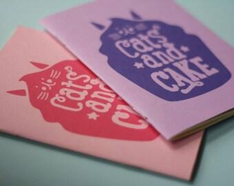 A6 Cats & Cake Zine - Cat Zine - Kitty Zine