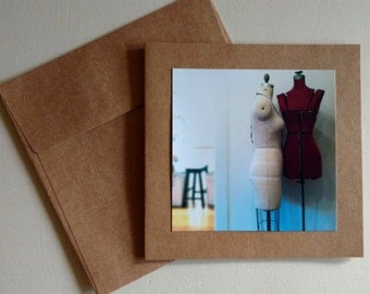 Dress Forms - Original Photography Greeting Card