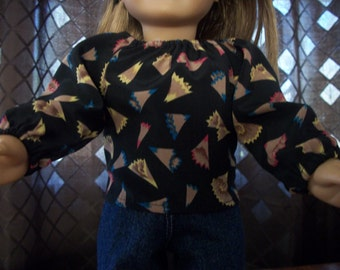 "Handmade 18"" Doll Top - 18""Doll Clothes -18"" Doll Top"