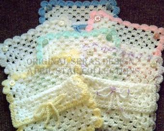 Crochet bag, baby bag, gift bag, baby gift bag, baby shower gift, baby shower gift bag