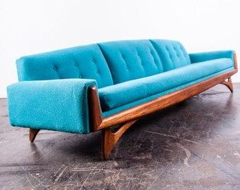 Mid Century Modern Sofa Couch Gondola Kroehler Adrian Pearsall Vladimir Kagan Craft Associates Vintage 60s Seating Danish MCM FREE SHIPPING