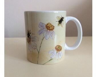 Claire Louise Latte Mug Botanical Daisy Design