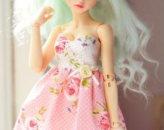 Sweet heart dress flowers minifee