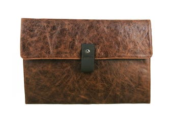 "11"" Leather Macbook Air Case - Rustic Brown"