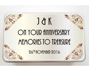 Your Anniversary Day Personalised Tin