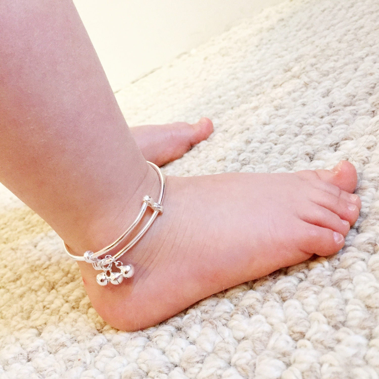 toddler bracelet garnet anklet ankle jewelry baby pin birthstone