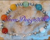 Chakra Bracelet with 7 Gemstones by IreneDesign2011