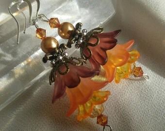 Earth Fairy Flower Earrings