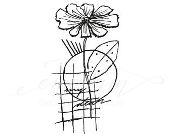 Rubberstamp - Abstract floral No.16