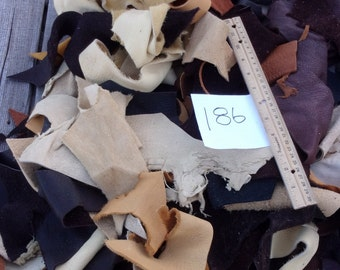 Leather scraps, Leather remnants, Craft leather scraps, Soft leather scraps , for diy projects
