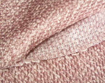 Destash Fabric - Pink Boucle fabric - Remnant - Overstock Fabric - Apparel Fabric - Italian fabric - Fashion fabric