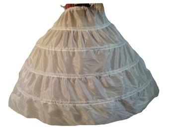 Civil War Reenactment Junior Ladies  (Ball Gown) 4 Hoop Petticoat