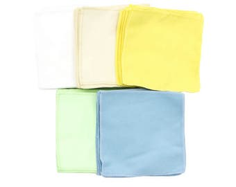 Pack of 10 Montessori Polishing Cloths 5 Colors to Choose