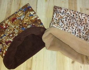 Dog Snuggle sack bed bag blanket.(Teddy or Letters).