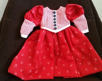 Doll Dress for 15 to 16 inch Doll Red and White